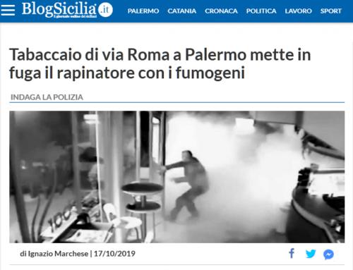 Fumogeno mette in fuga i rapinatori a Palermo